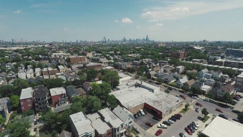 Chicago Summer West Side Aerial