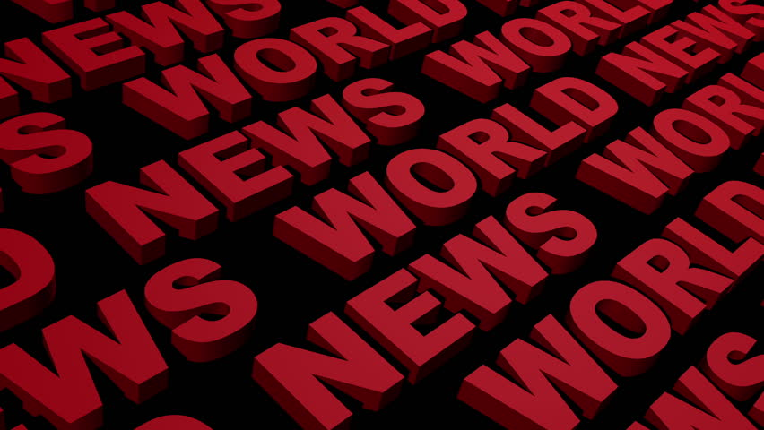World News Looping Text Angle Three Bottom Left to Top Right  | Shutterstock HD Video #3028837