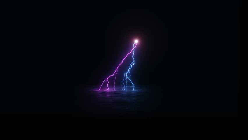 Purple lightning bolt