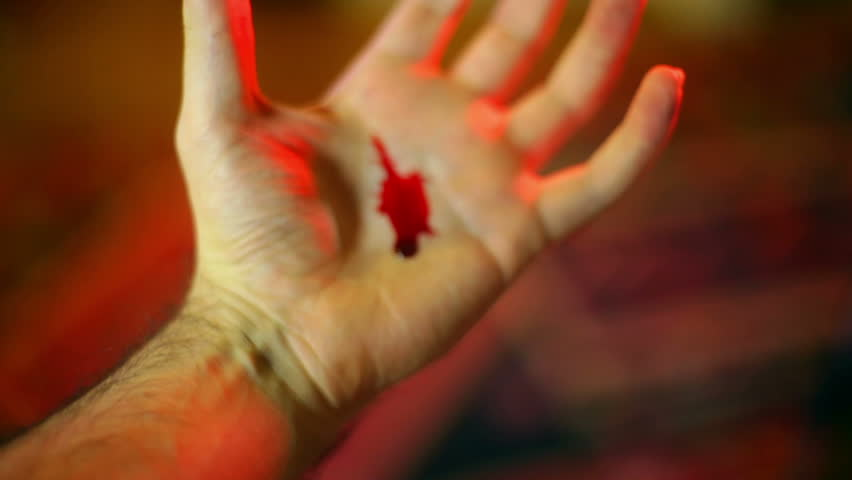 stigmata, some religous christians claim that when they become in touch with the holy spirit they bleed in the palms of their hands as an emulation of jesus.