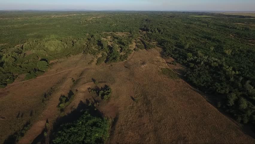 Rural field in sunset, drone aerial footage | Shutterstock HD Video #30341287