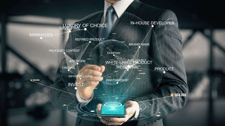 Businessman with White-Label Product | Shutterstock HD Video #30351727