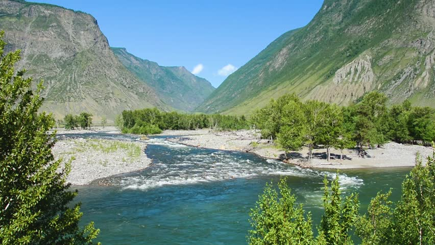 Chulyshman River. Chulcha river. Altai Mountains Siberia Russia | Shutterstock HD Video #30402217