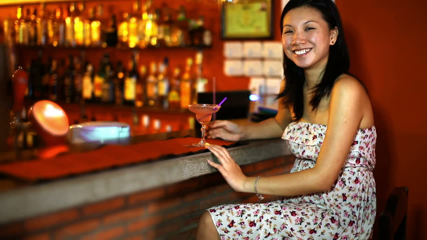 Asian bar girl video