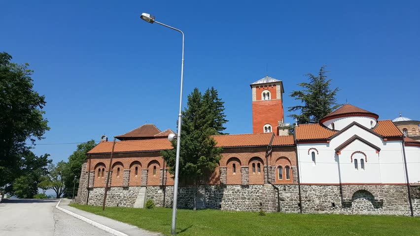 Details of the Serbian Orthodox Church. Zica Monastery, located near the town of Kraljevo in Serbia. Monastery which is crowned seven kings.