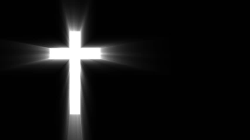 light cross of christ ray beams background stock footage