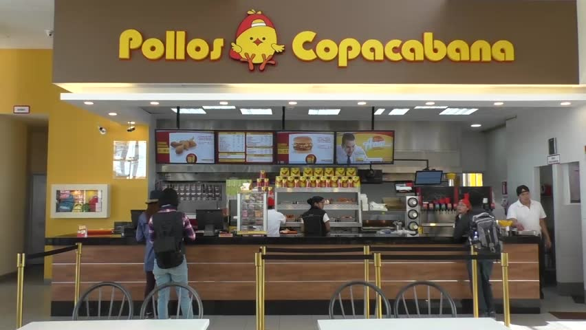 Bolivia La Paz 13 February 2017 People Food In The Famous Pollos