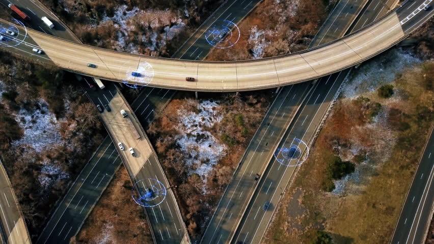 Self Driving Autopilot Autonomous Cars on Highway 4K | Shutterstock HD Video #30645568