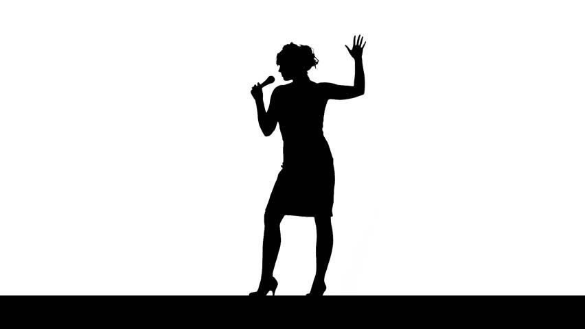 Singer, silhouette