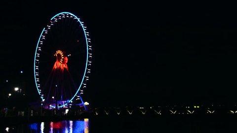 Washington D.C National Harbor - Ferris Wheel 06 - Night