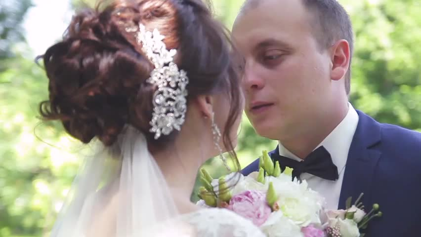 The Bride Wipes Sweat From The Bridegroom\'s Face, And The Groom ...