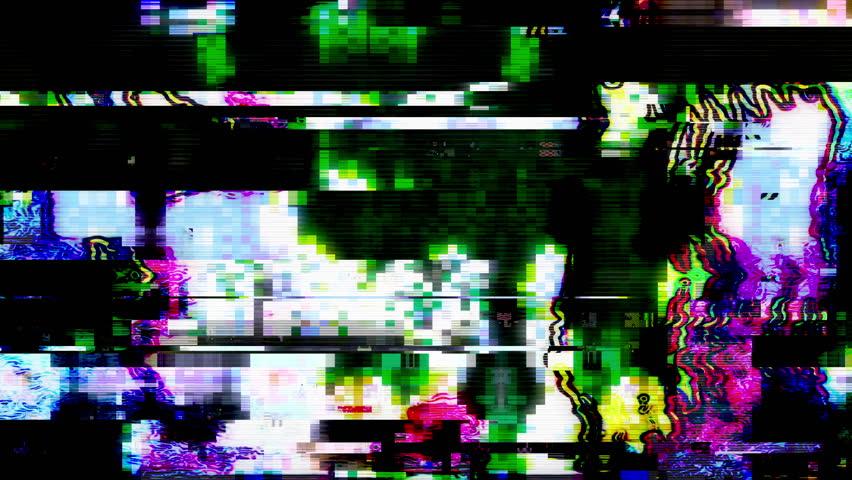 Data Glitch 025: Streaming video break down (Loop). | Shutterstock HD Video #30804367