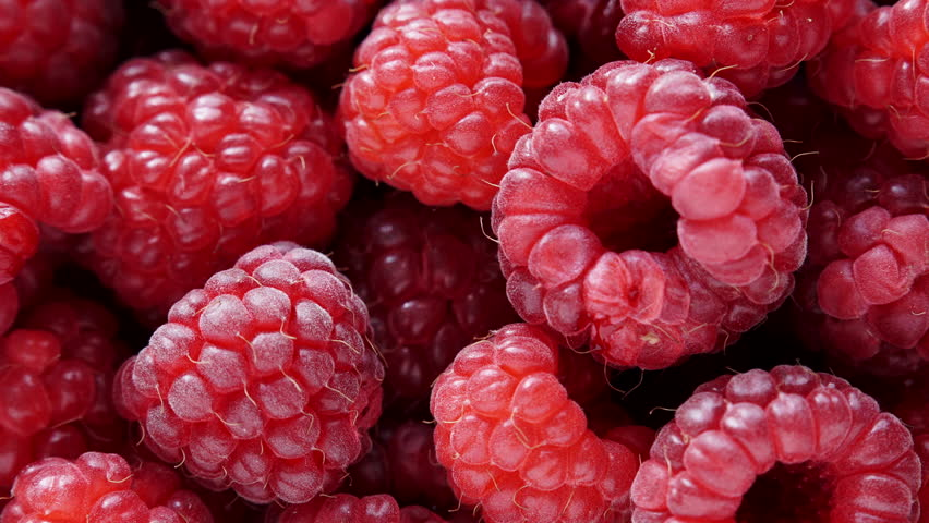 Fresh raspberry fruits as food background. Healthy food organic nutrition. View from above.