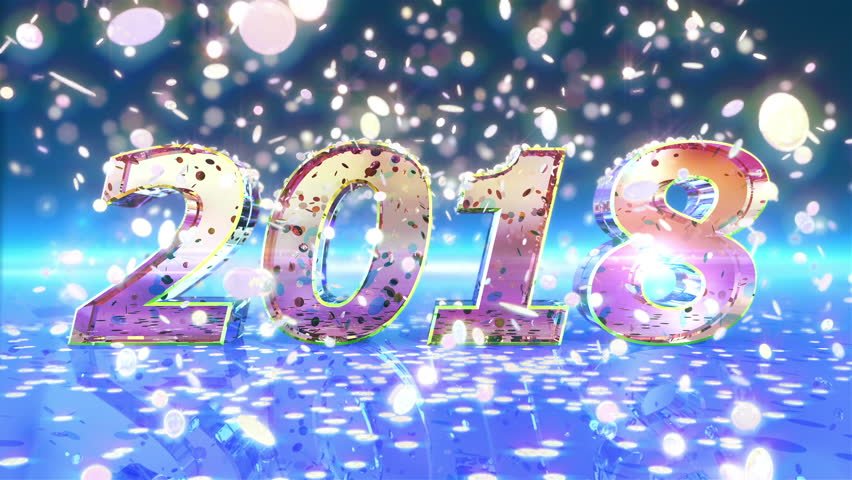 2018 New Year Animation. Best Stock Footage Video (100% Royalty-free ...