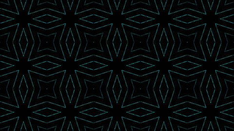 disco kaleidoscopes background with animated glowing neon colorful lines and geometric shapes for music videos, VJ, DJ, stage, LED screens, show, events.seamless loop.