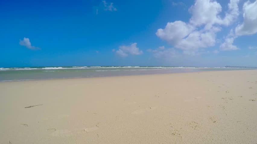 4k beautiful golden sand beach static, taken at Henley Beach, South Australia.