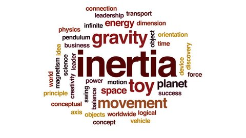 Inertia animated word cloud, text design animation.