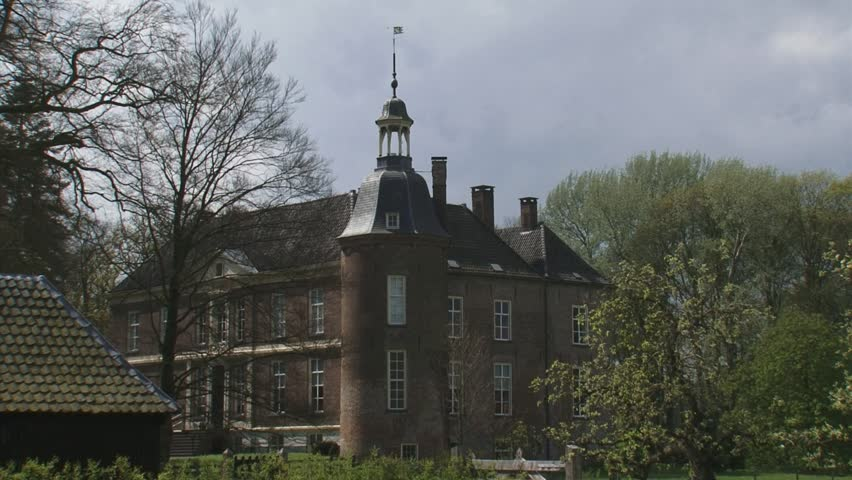 VORDEN, THE NETHERLANDS - APRIL 2012: Hackfort castle. Hackfort Castle dates from the 14th century (1376)