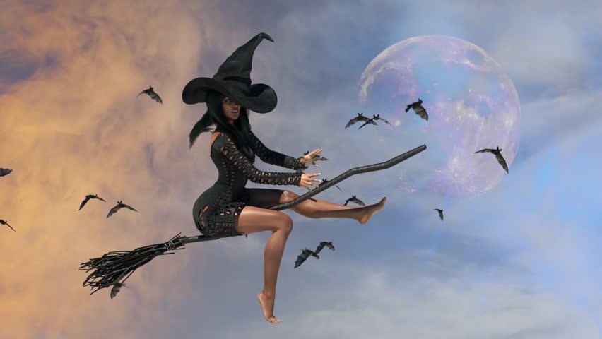 Прикольные картинки ведьмы на метле