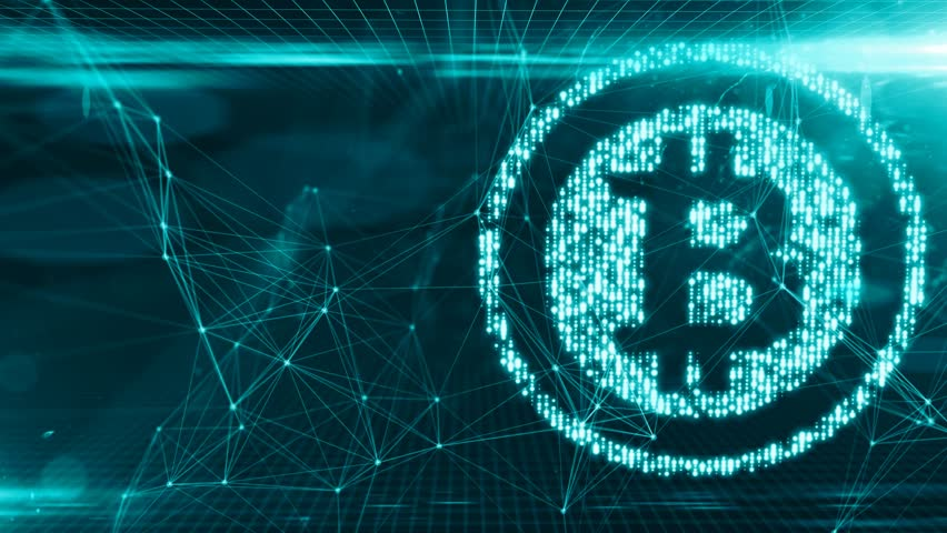 Bitcoin blockchain crypto currency digital encryption network for world money | Shutterstock HD Video #31073182
