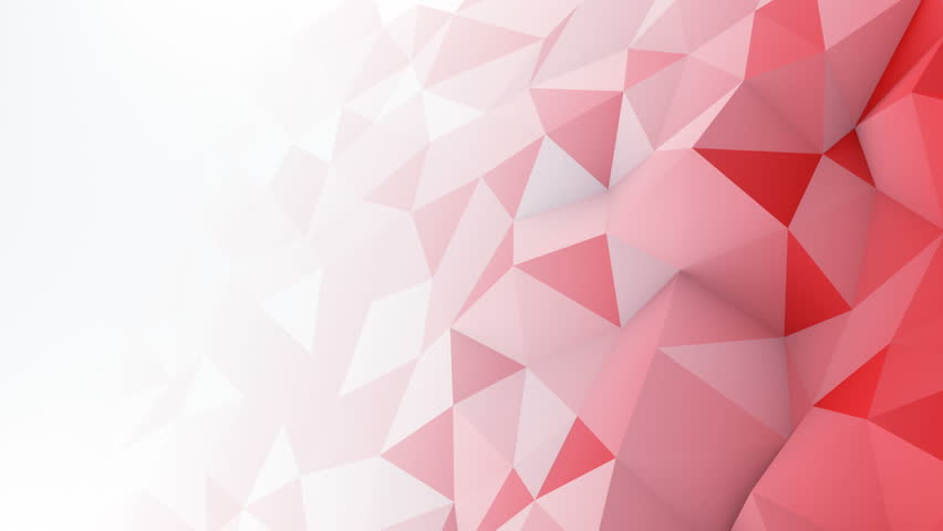 Red White Gradient Polygonal Surface. Stock Footage Video ...