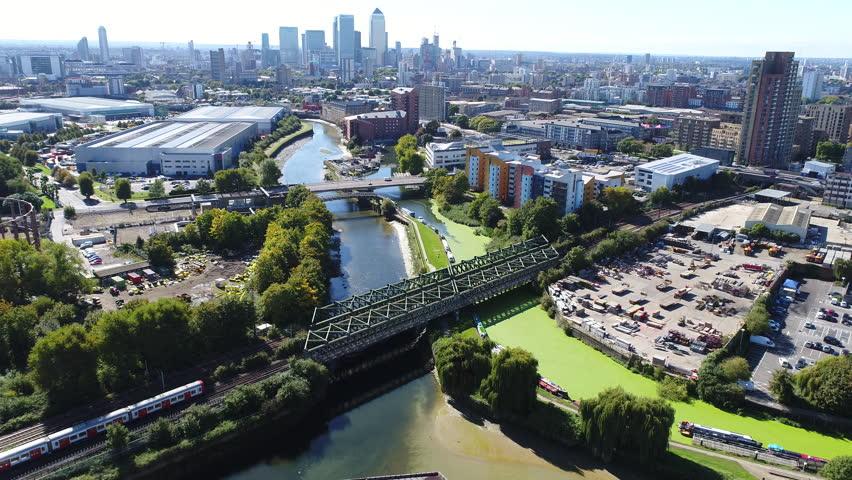 Panoramic aerial view of London No.1