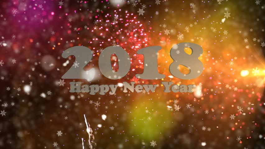 Fireworks with new year greeting 2018 amber background with background with fireworks and new year greeting stock footage video 100 royalty free 31221667 shutterstock m4hsunfo Image collections