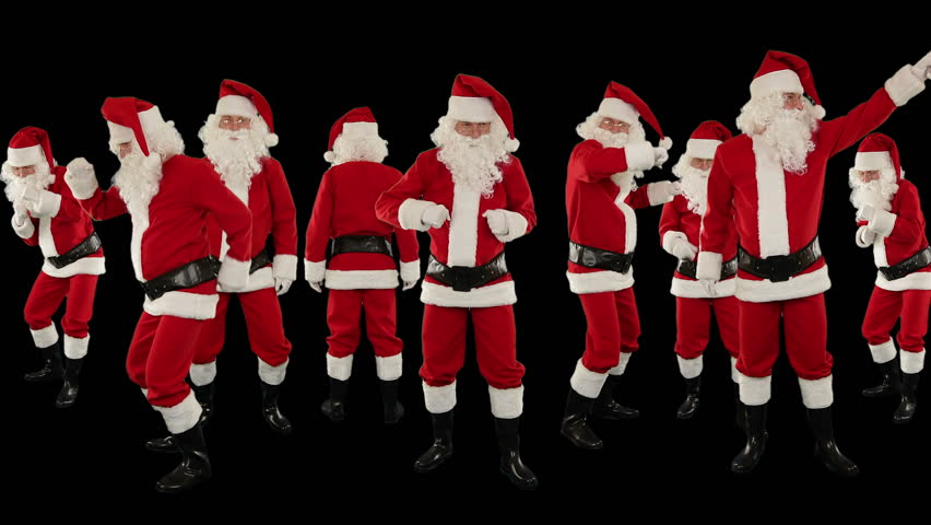 Christmas Dancing Santa.Bunch Of Santa Claus Dancing Stock Footage Video 100 Royalty Free 3123127 Shutterstock