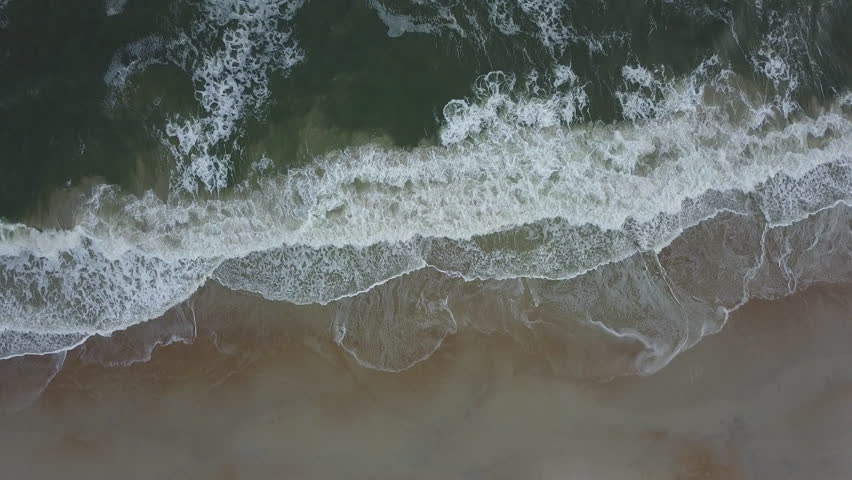 Waves Crashing on Beach (Aerial) | Shutterstock HD Video #31233607