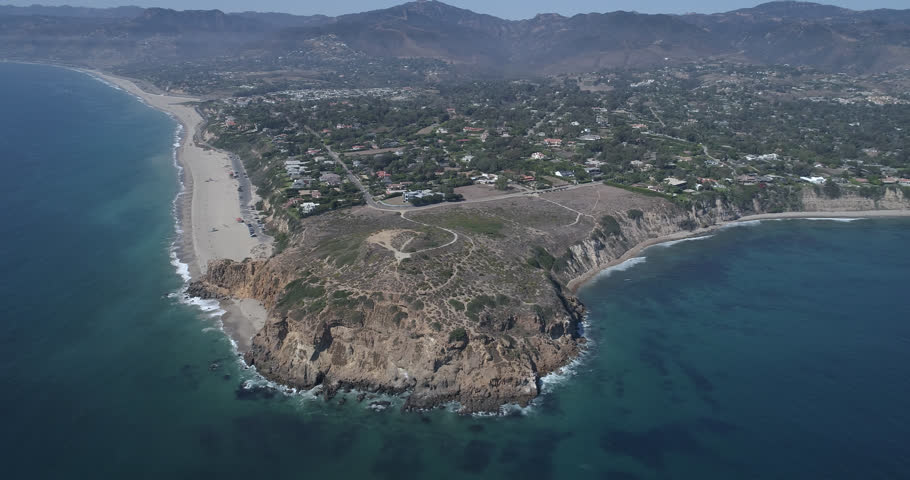 Aerial Malibu Zuma Ridge / Paradise Cove Clear perfect day Shot on Phantom 4 Drone Pro H265 converted to Prores 4444 4k DCI source - Full set of 18 | Shutterstock HD Video #31246627