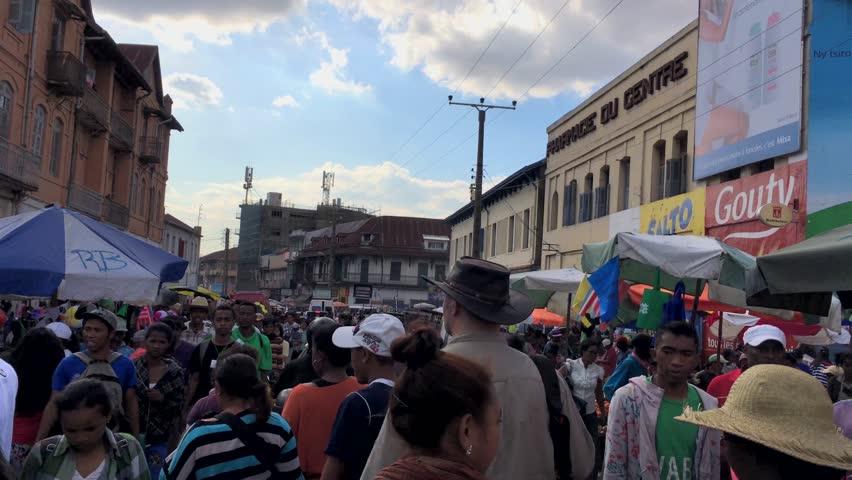 Market in Antananarivo, Madagascar, circa June 2017