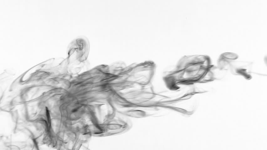 Black smoke in the form of rings on a white background. | Shutterstock HD Video #31283737