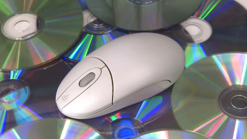 Computer mouse CD DVD oscillating