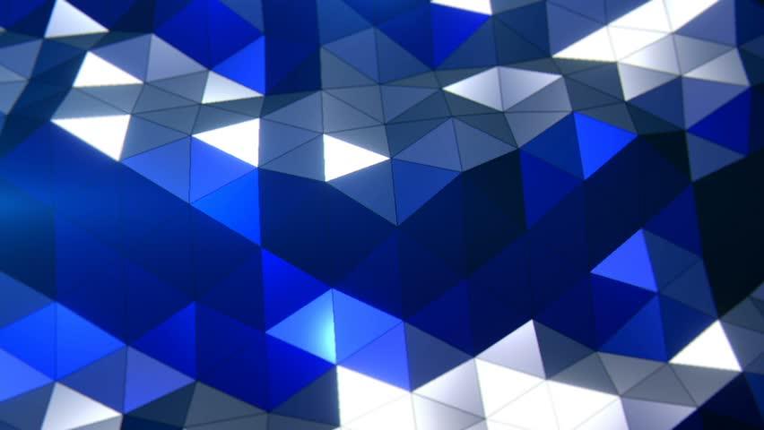 PolyWaves Blue - Professional VJ Background Loop. FULL HD 1080p   Shutterstock HD Video #31325698