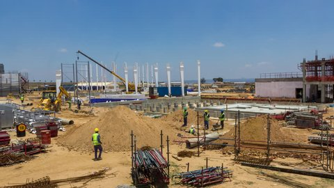 Johannesburg, Gauteng, South Africa - 22/06/2015 A new factory being constructed and developed in the Johannesburg area.