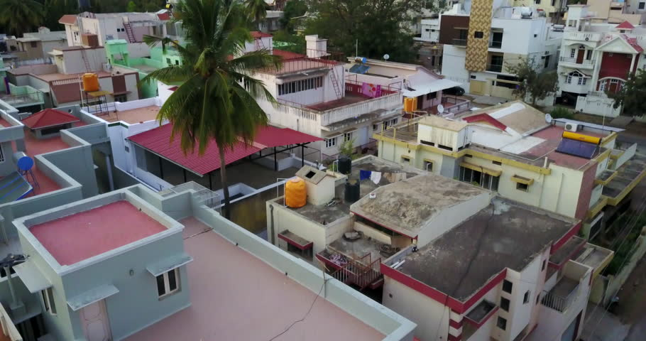Aerial view of Rooftops in Mysore India | Shutterstock HD Video #31364107
