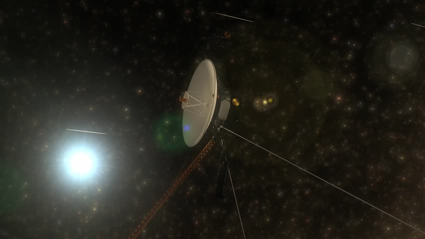 Artist rendering, Voyager space probe.