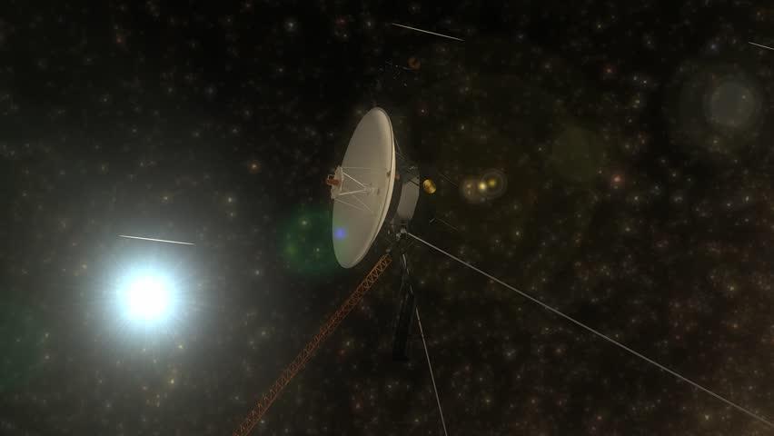Artist rendering, Voyager space probe.