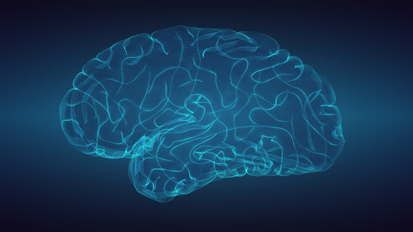 Glowing brain over graduated dark background | Shutterstock HD Video #31538107