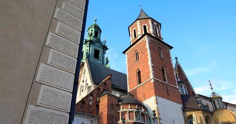 Historic quarter of Krakow, Poland - Wawel Royal Castle – Wawel Cathedral - September 25, 2017