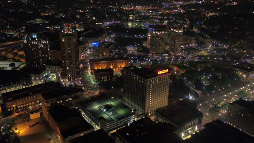 Aerial Rhode Island Providence July 2017 Night 4K Inspire 2 | Shutterstock HD Video #31626130