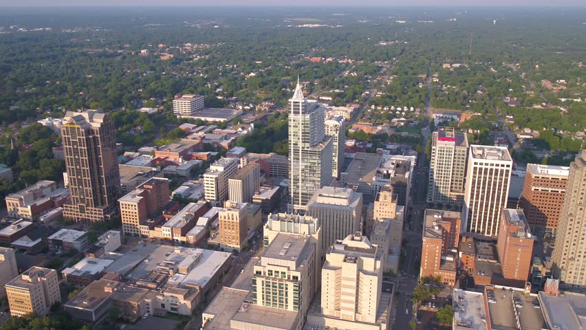 Aerial North Carolina Raleigh July 2017 Sunny Day 4K Inspire 2