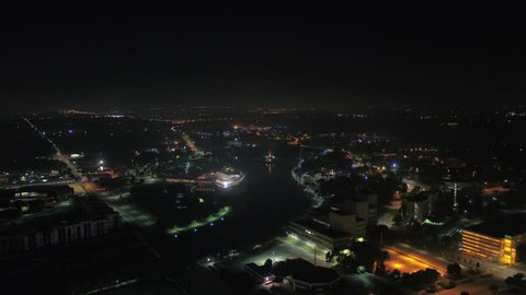 Aerial Kansas Wichita July 2017 Night 4K Inspire 2