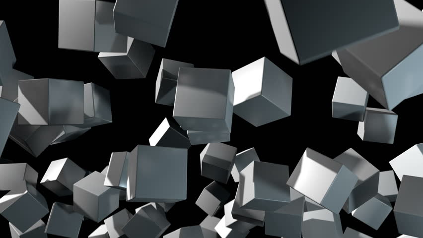 3D animated background depicting random positioned cubes rotating and aligning to form a patterned grid. | Shutterstock HD Video #31632757