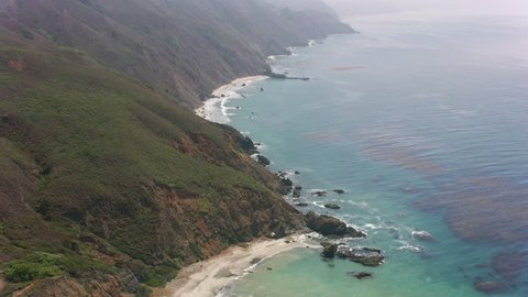 California circa-2017, Aerial view of California coastline. Shot with Cineflex and RED Epic-W Helium.