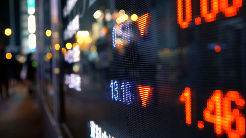 Display stock market numbers and graph on street | Shutterstock HD Video #31698862