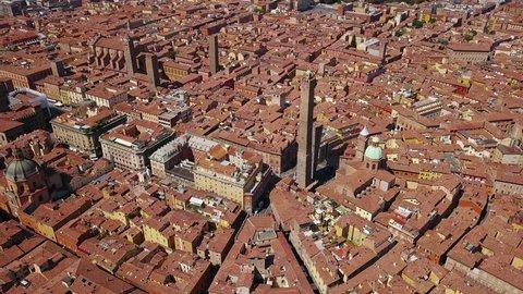 Bologna Italy aerial view