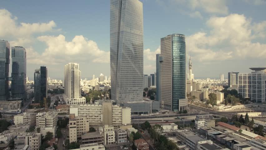 TEL AVIV, ISRAEL - SEPTEMBER, 2017: Tel Aviv Skyline Aerial View, Fly By Up, Over Tel Aviv And Ramat Gan At Day,    Shutterstock HD Video #31902472