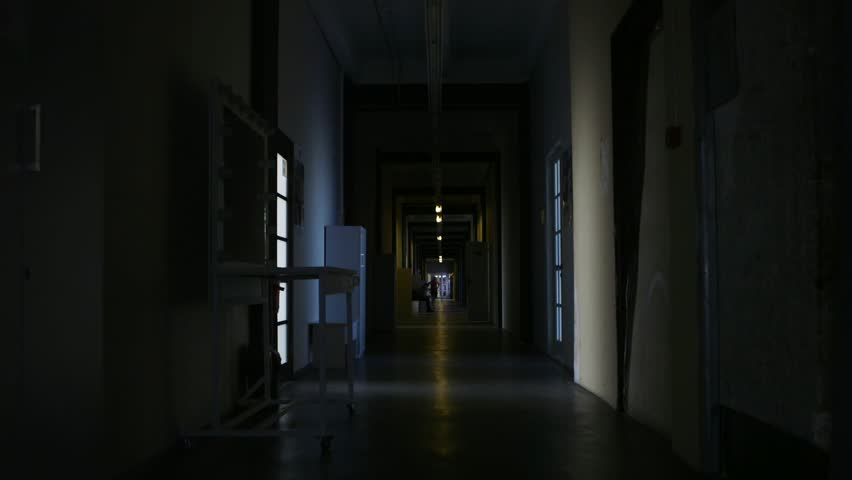 Abandoned long corridor/hallway,dolly slider motion.A long corridor/hallway of a destroyed by an earthquake and evacuated hotel. | Shutterstock HD Video #31951657