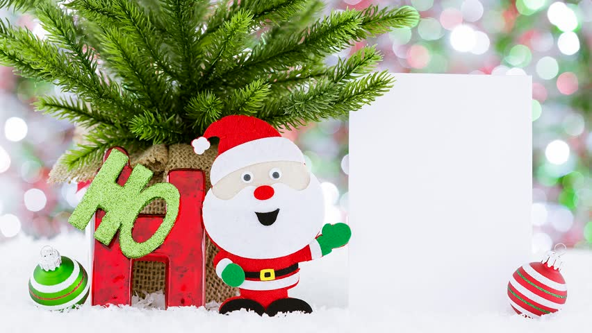 hd0014christmas greeting video card ho ho ho santa creative funny and cute way to send your holiday wishes - Christmas Wishes Video